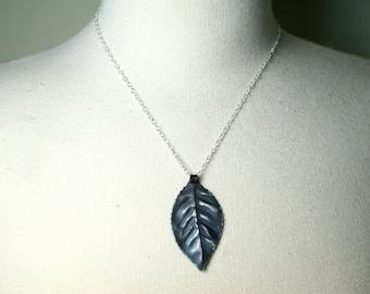 Iron Leaf Necklace, Blacksmith, Iron Jewelry, 6th Anniversary Gift, 11th Anniversary, Gift for Her, Forge Iron