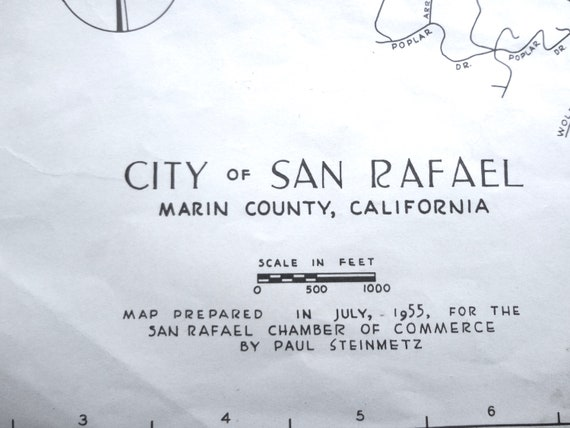 Vintage San Rafael CA Map 1955 Some Age Spots Creases 1 Small Tear on kentfield california map, california california map, el sur california map, alamitos california map, arroyo seco california map, cabo san lucas baja california map, victorville california map, oklahoma city california map, los robles california map, pollock pines california map, north lake tahoe california map, hopland california map, santa clara california map, sonoma coast california map, san bernardo california map, santa rosa california map, san pablo california map, city of san francisco california map, vallejo california map, concord california map,