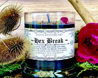 Hex Break ~ Uncrossing candle, Witches spell candle, spell candle, Anita Apothecary, Witchcraft candle, Reversal candle, Hex, Hexing, Banish