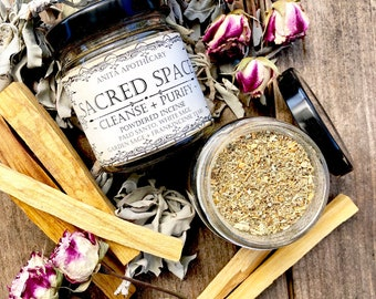 Sacred Space Powdered Incense ~ Sacred Sage, White Sage, Smudge, Palo Santo Incense, Witchcraft imcemse, Wicca tools, Witchcraft tools