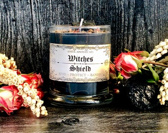 Witches Shield Candle ~ Anita Apothecary, Ritual Oil, Witch Protection, Magick, Altar Tools, Kitchen Witch, Hedge Witch, Witch oils