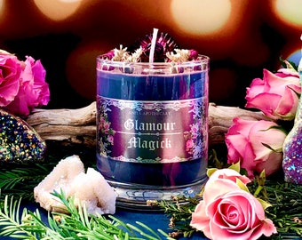 Glamour Magick Ritual Candle - Anita Apothecary, witch candle, spell candle, witchcraft candle, witches spell candle, crystal candle, Occult