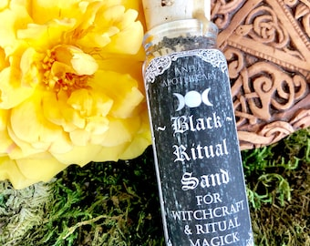 Black Ritual Sand for Witchcraft~ Cauldron Sand, Witch Sand, Anita Apothecary, Black Salt, Dragons Blood Resin, Moonstone oil candle