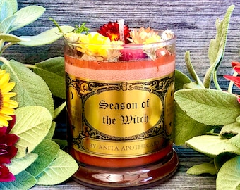 Season of the Witch Candle ~ Anita Apothecary, Samhain candle, Halloween Candle, Necromancy Candle, witches spell candle, witchcraft candle