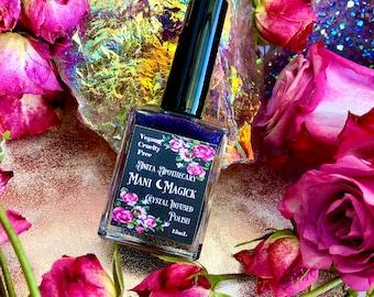 Nightshade ~ Mani Magick by Anita Apothecary, Crystal nail polish, nail paint, holographic nail polish, color shift nail polish, nail art