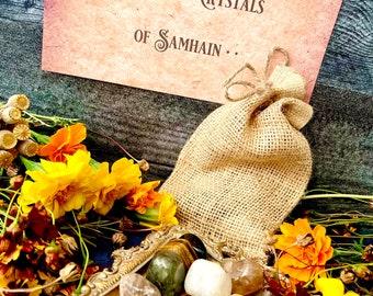 9 Crystals of Samhain ~ Anita Apothecary, Samhain Crystal set, Polished crystals, Autumn crystals, Samhain Ritual, Samhain Spirit