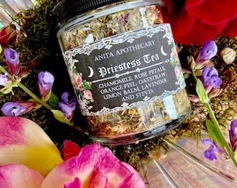 Priestess Tea Ritual~Goddess Tea, Witchcraft, Magick, English Tea, Crystal tea strainer, Loose leaf tea, Pagan Goddess, Beauty, Roses