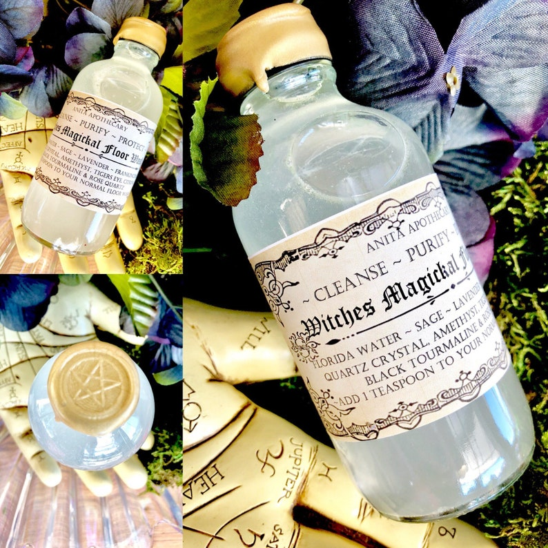 Witches Magickal Floor Wash~ Hoodoo Floor Wash, Witch Wash, Witch Soap   Kitchen Witch, Cleansing, Smudge, Witchcraft supplies  Witch tools