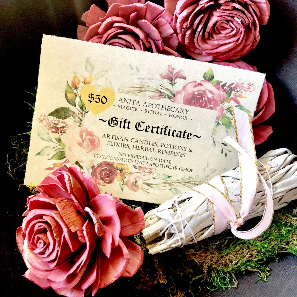 Gift Certificate Anita Apothecary Witchcraft Magick Etsy