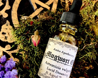 Pure Mugwort Oil ~Witches Dream Oil-Lucid Dreaming and Astral Travel Flying Ointment, Mugwort Oil, mugwort, witchcraft, Wicca, Witch Oil