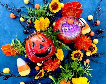 LIMITED!! Jack the Pumpkin Candles ~ Anita Apothecary, Halloween candle, Samhain Candles, Halloween Decor, Halloween Aesthetic, Halloween