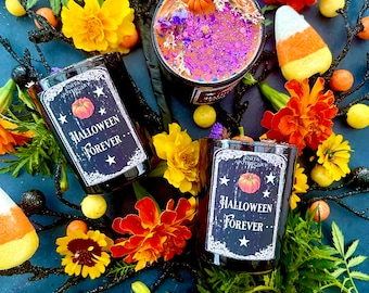 Halloween Forever Votives ~ Anita Apothecary, Halloween candles, Halloween Decor, Pumpkin candles, pumpkin spice candle, Day of the Dead