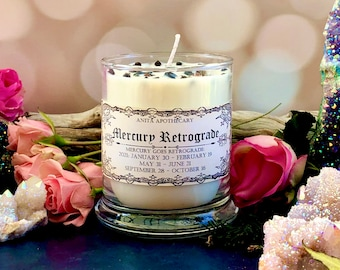2022 Mercury Retrograde Soy Candle~Grounding oil, protection, witch oil, witchcraft oil, witch altar supplies, magick oil, moon phase, pagan