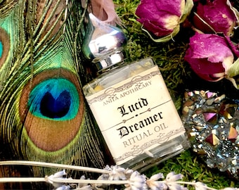 Lucid Dreamer Oil ~ Dream Spell, Dreams, Dream Magick, Witches spell candle, Witchcraft candle, Spell candle, Anita Apothecary