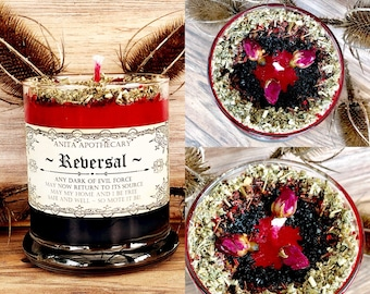 Reversal ~ Hoodoo Reverse candle, Witches spell candle, Spell candle, Witchcraft, Hoodoo candle, hoodoo, Anita Apothecary, Magick, Witch