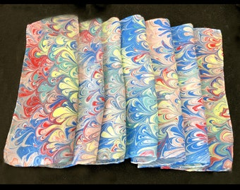 Summer Marbled Silk Scarf