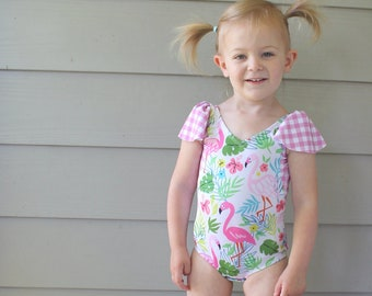 DbCA Sorbetto Swimsuit PDF Pattern - bathing suit and tankini sewing pattern sized newborn to 16 years