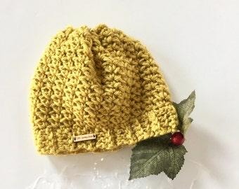5e3d336729a Crochet Slouchy Hat PATTERN - vintage hat pattern - Crochet slouchy Hat  Pattern - Let It Snow Hat