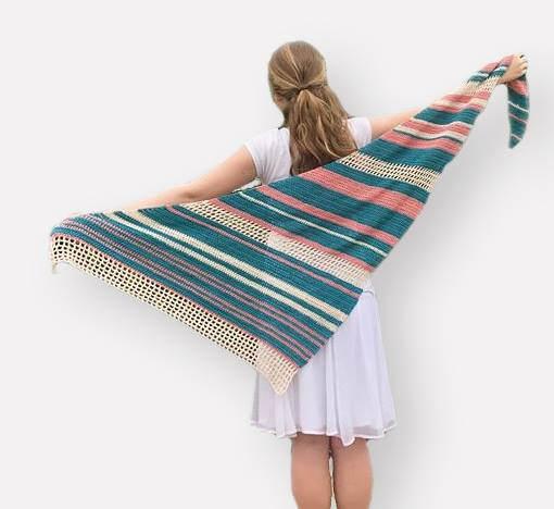 Crochet Asymmetrical Shawl Pattern Easy Summer Shawl Etsy