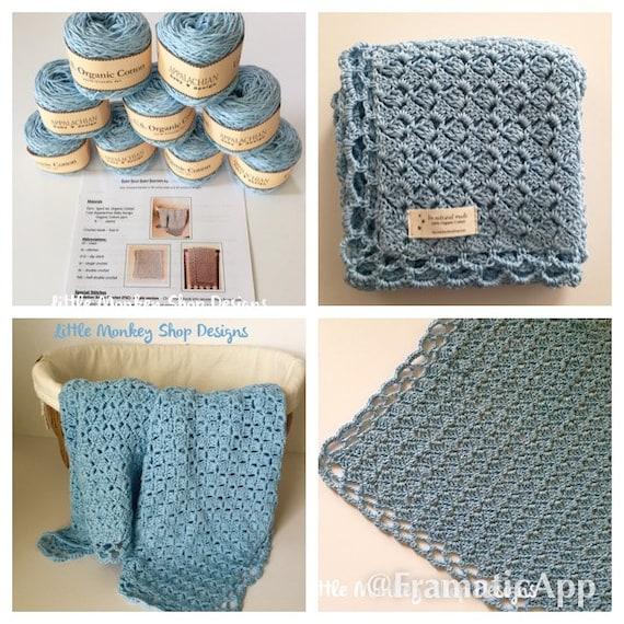 Baby Blanket Crochet Kit Organic Cotton Crochet Kit Etsy