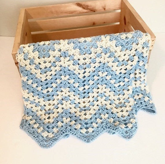 Dreamy Waves Chevron Baby Blanket Crochet Pattern Summer Etsy