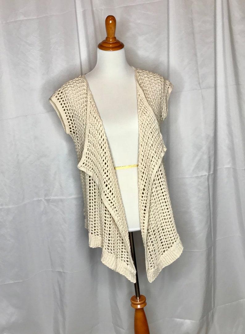 fd2db2cb9d61e Breezy Summer Vest Crochet PATTERN Easy Sleeveless Sweater | Etsy