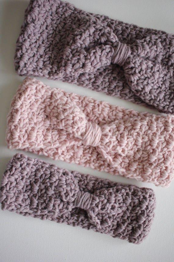 Ear Warmer Crochet Pattern Knotted Ava Ear Warmer Crochet Etsy