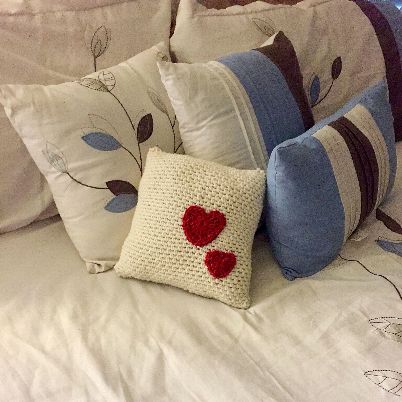Crochet pattern heart pillow home decor pillow crochet etsy - Decoration au crochet ...