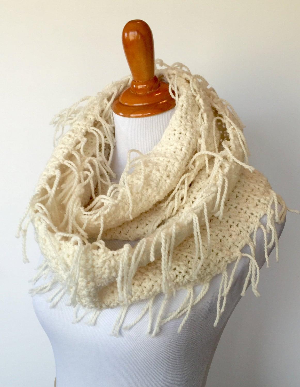 Crochet Pattern Boho Scarf Fringe Crochet Pattern Boho Etsy
