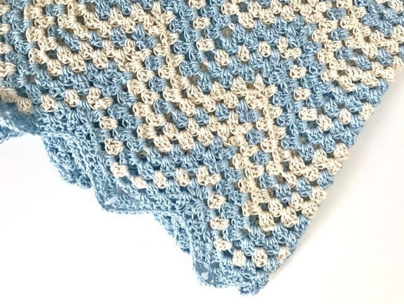 Dreamy Waves Chevron Baby Blanket Crochet Pattern Kit Yarn Etsy