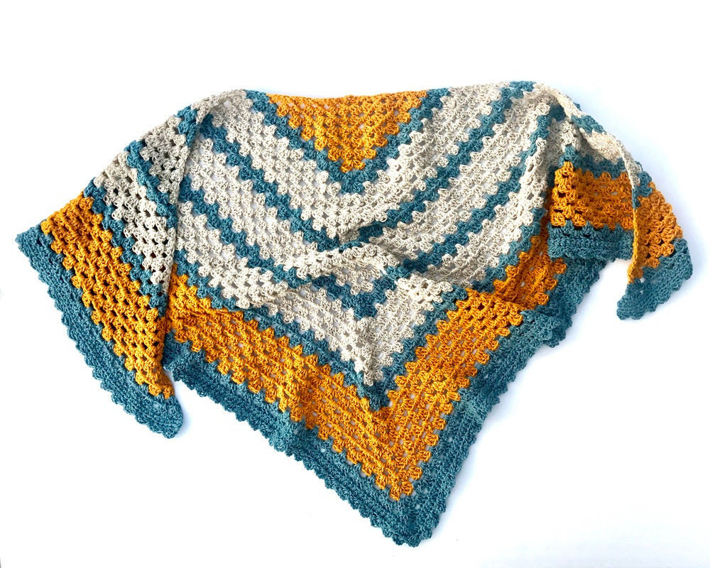 Crochet Triangle Shawl Pattern Easy Shawl Wrap Crochet Etsy