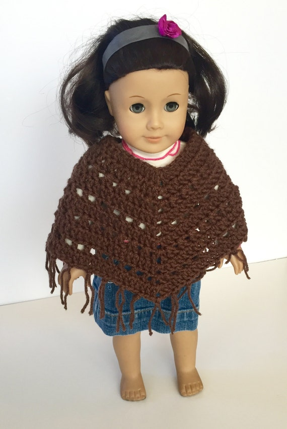 Crochet Pattern Doll Poncho American Girl Doll Doll Poncho Etsy