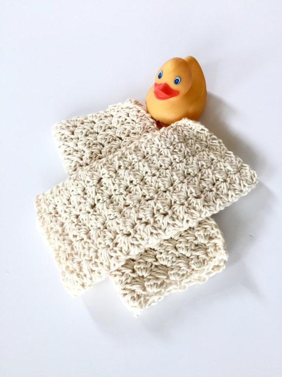Crochet Pattern Baby Washcloths Spa Cloth Baby Washcloths Etsy