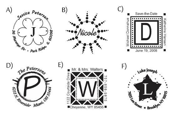 Self Inking Monogram Flash Stamp