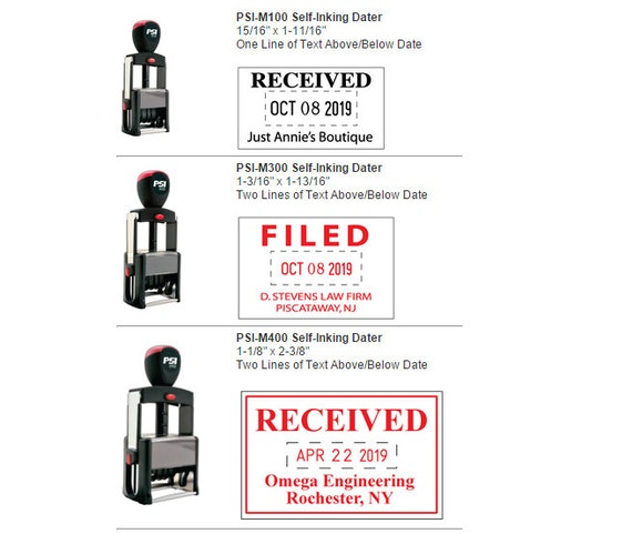 PSI Self-Inking Date Stamps