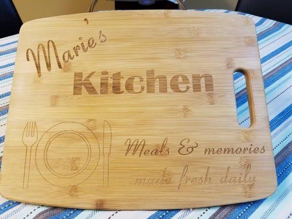 Bamboo Cutting Board personalized