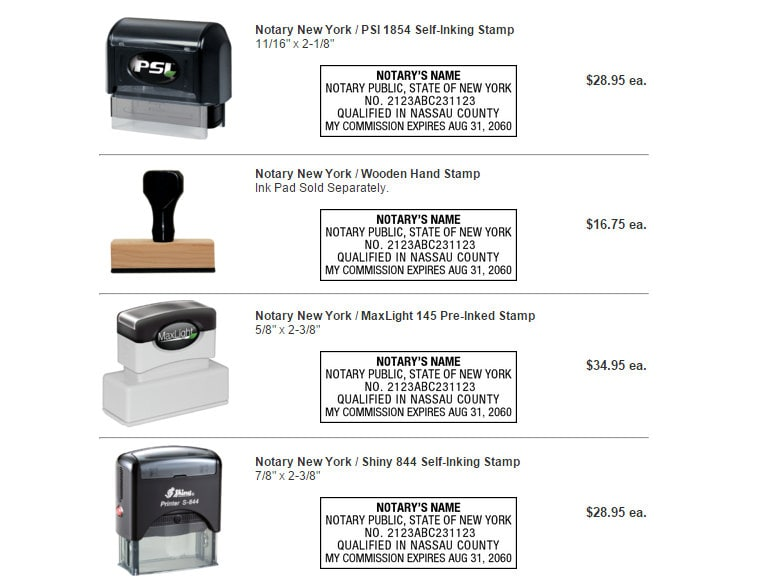 Notary Stamps Seals