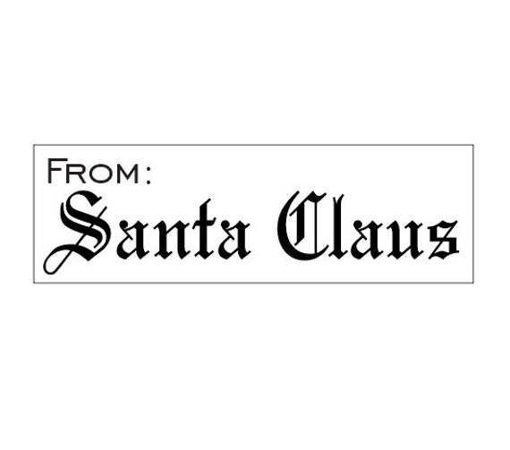 From Santa Self-Inking Stamp