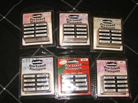 JustRite Pre-Inked Small Stamper Sets - Friends