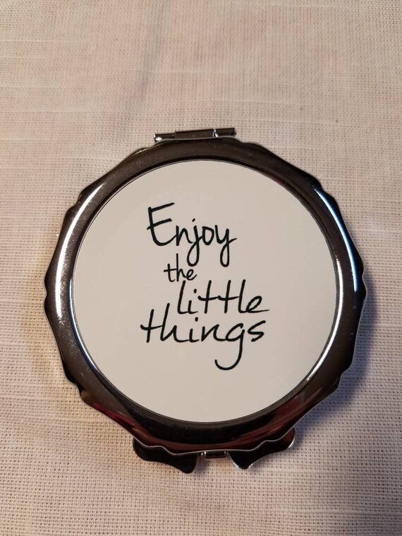 Compact mirror personalized