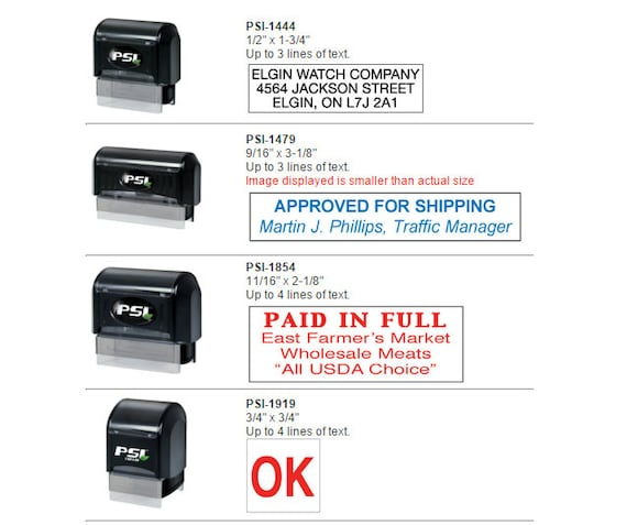 PSI Self-Inking Stamps