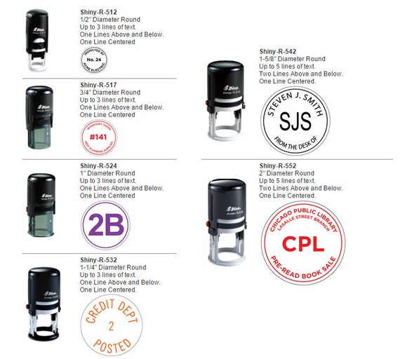 Shiny Round Self-Inking Stamps