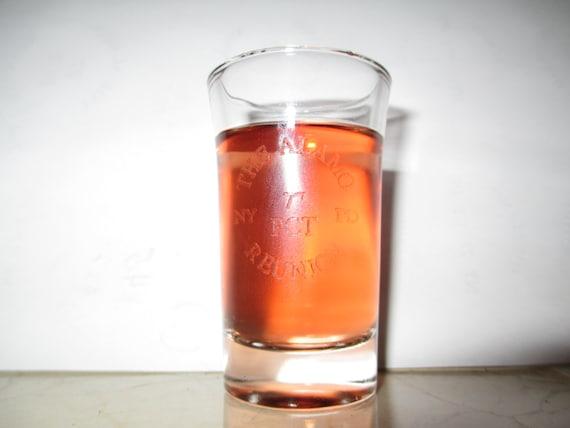 laser engraved shot glass