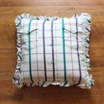 Custom Memory Pillow With Ruffle Made from Button Down Shirt - Made to Order from YOUR Shirt