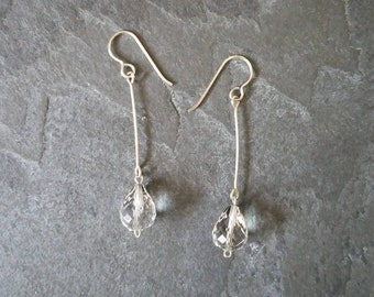 Ice Ice; Quartz and Sterling Silver Earrings