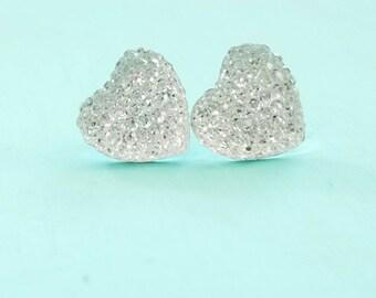 Sparkle Crystal Heart Earrings