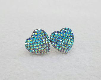Sparkle Shimmer Hearts Available in Iridescent Gray