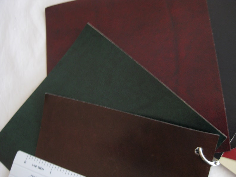 Faux leather samples Leather crafts collage 5.75 x 5.75 jewelry making multimedia art 7 pcs other.