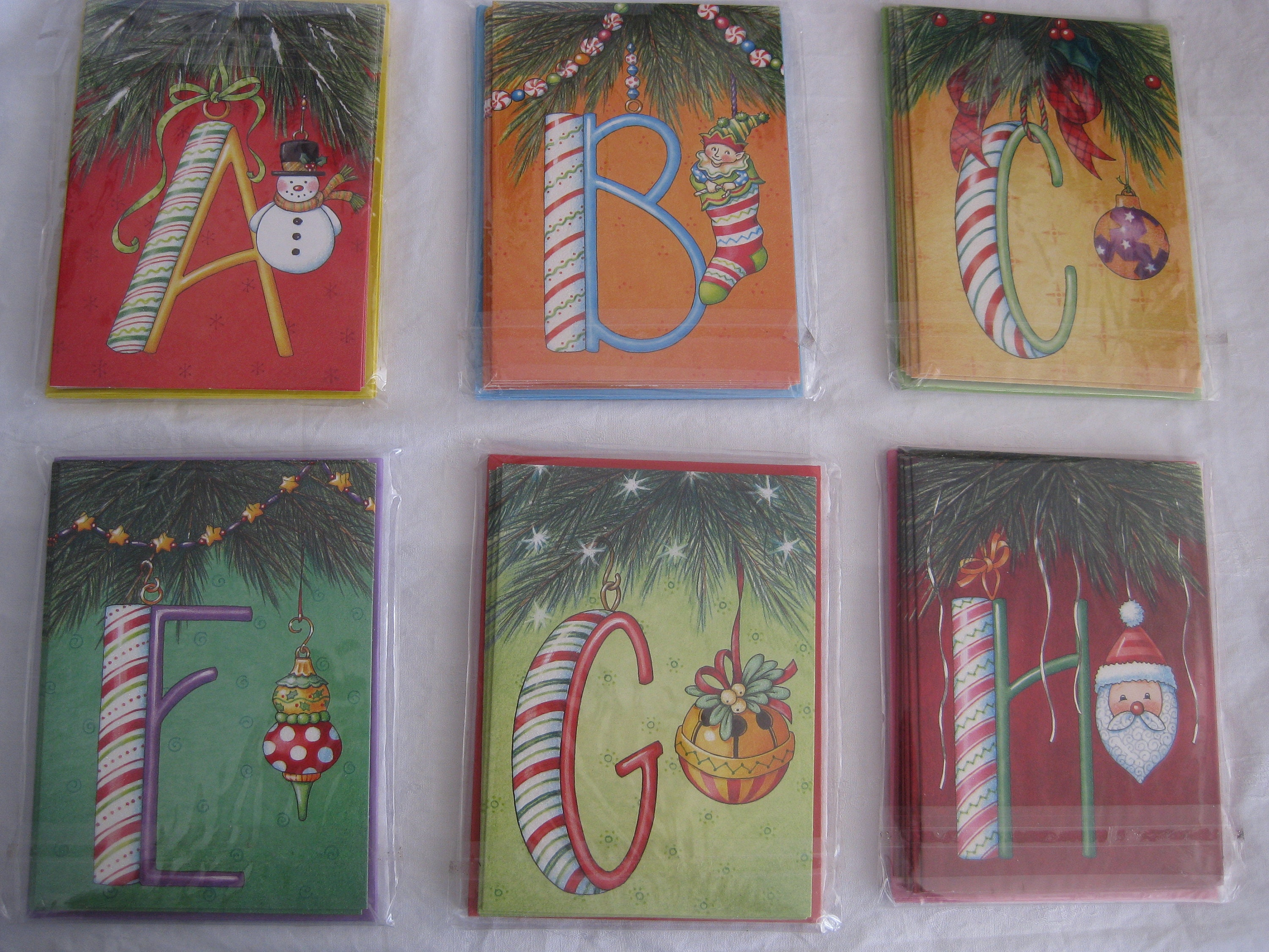 Mary Engelbreit christmas cards monogramed cards6 cards with | Etsy
