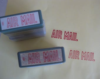 Self inking AIR MAIL stamp, vintage (early 90's).